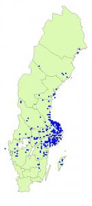 Karta från Artfaktablad.
